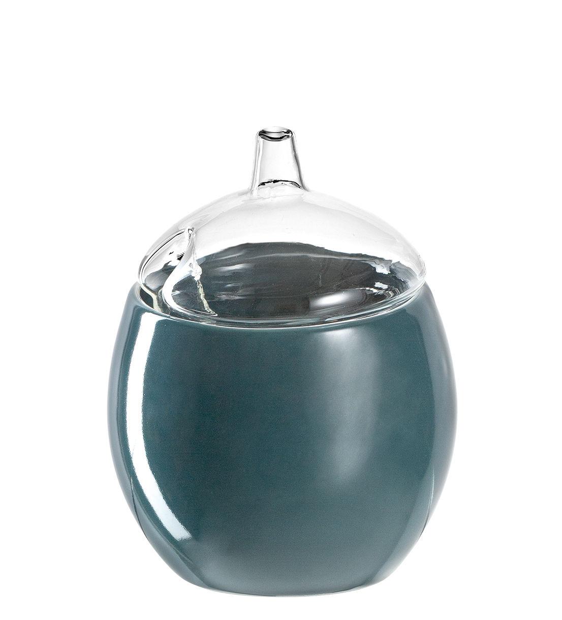 Arts de la table - Saladiers, coupes et bols - Bol Firenze / Avec couvercle - Ø 10 cm - Leonardo - Bleu pétrole - Verre