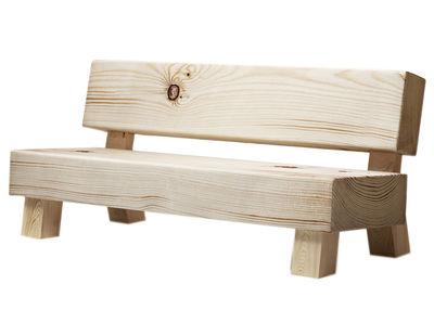 Mobilier - Canapés - Canapé droit Soft Wood / En mousse - L 194 cm - Moroso - Tissu imprimé bois - Bois, Textile