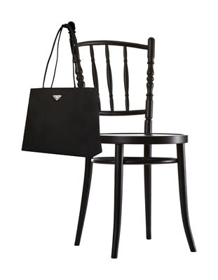 Furniture - Chairs - Extension chair Chair - With integrated bag holder by Moooi - Matt black - Painted solid beech