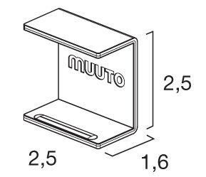 Mobilier - Etagères & bibliothèques - Clip d'assemblage / Pour étagères Mini Stacked - Lot de 5 clips - Muuto - Gris - Métal