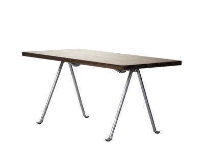 Möbel - Couchtische - Officina Couchtisch / 120 x 45 cm - Nussbaum & Schmiedeeisen - Magis - Nussbaum / Fußgestell verzinkt - Fer forgé galvanisé, Noyer américain massif