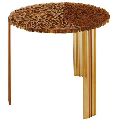 T-Table Alto Couchtisch - Kartell - Amber transparent