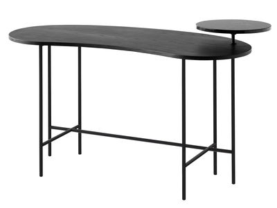 Furniture - Office Furniture - Palette JH9 Desk - 2 tops by &tradition - Black / Nero Marquina / Black feet - Ashwood, Lacquered steel, Marble