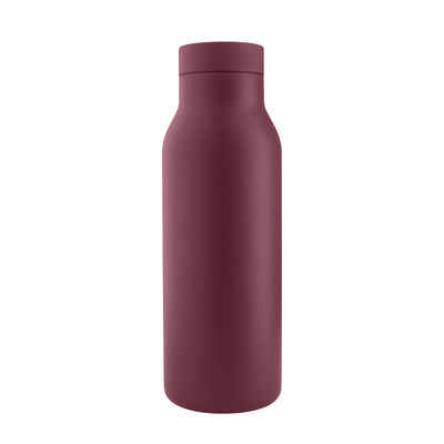 The Christmas shop - Small prices - Urban Insulated flask - / 0.5 L - Steel by Eva Solo - Pomegranate - Plastic, Stainless steel