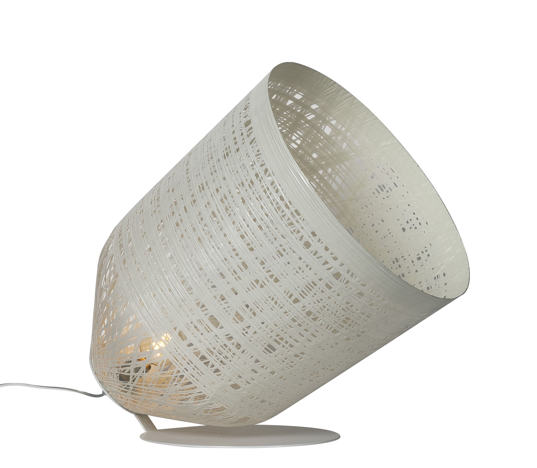 Illuminazione - Lampade da terra - Lampada da posa Black out - / Per l'esterno - H 65 cm di Karman - Bianco - Fibra di vetro