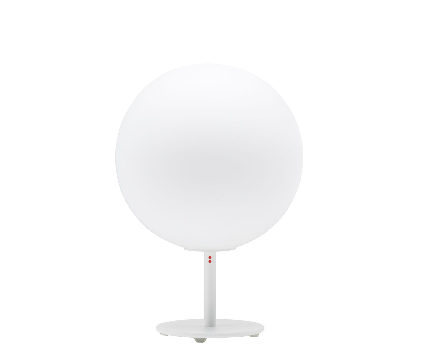 Illuminazione - Lampade da tavolo - Lampada da tavolo Sfera - Ø 14 cm con piede di Fabbian - Bianco - Ø 14 cm - Piede - Vetro