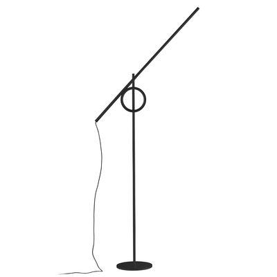 Lampadaire Tangent XL / LED - Orientable / H 203 cm - Pallucco noir en métal