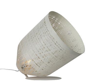 Lampe à poser Black out / Pour l'extérieur - H 65 cm - Karman blanc en matière plastique