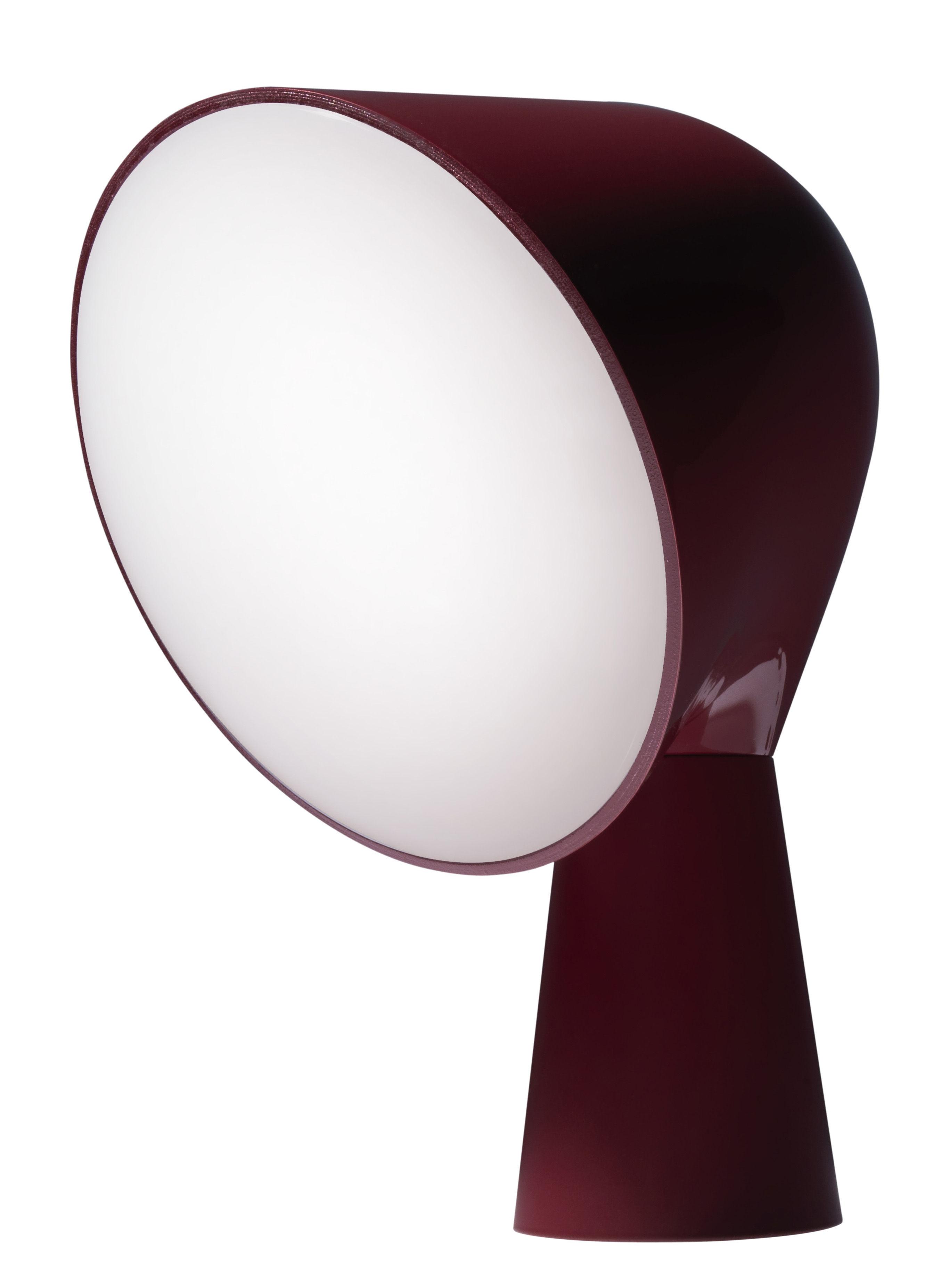 Luminaire - Lampes de table - Lampe de table Binic - Foscarini - Rouge amarante - ABS, Polycarbonate