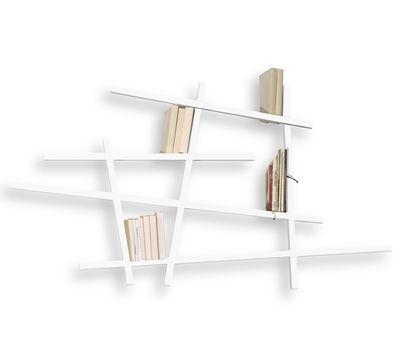 Arredamento - Scaffali e librerie - Libreria Mikado Small - colorata - Modello piccolo di Compagnie - Bianco - Faggio laccato