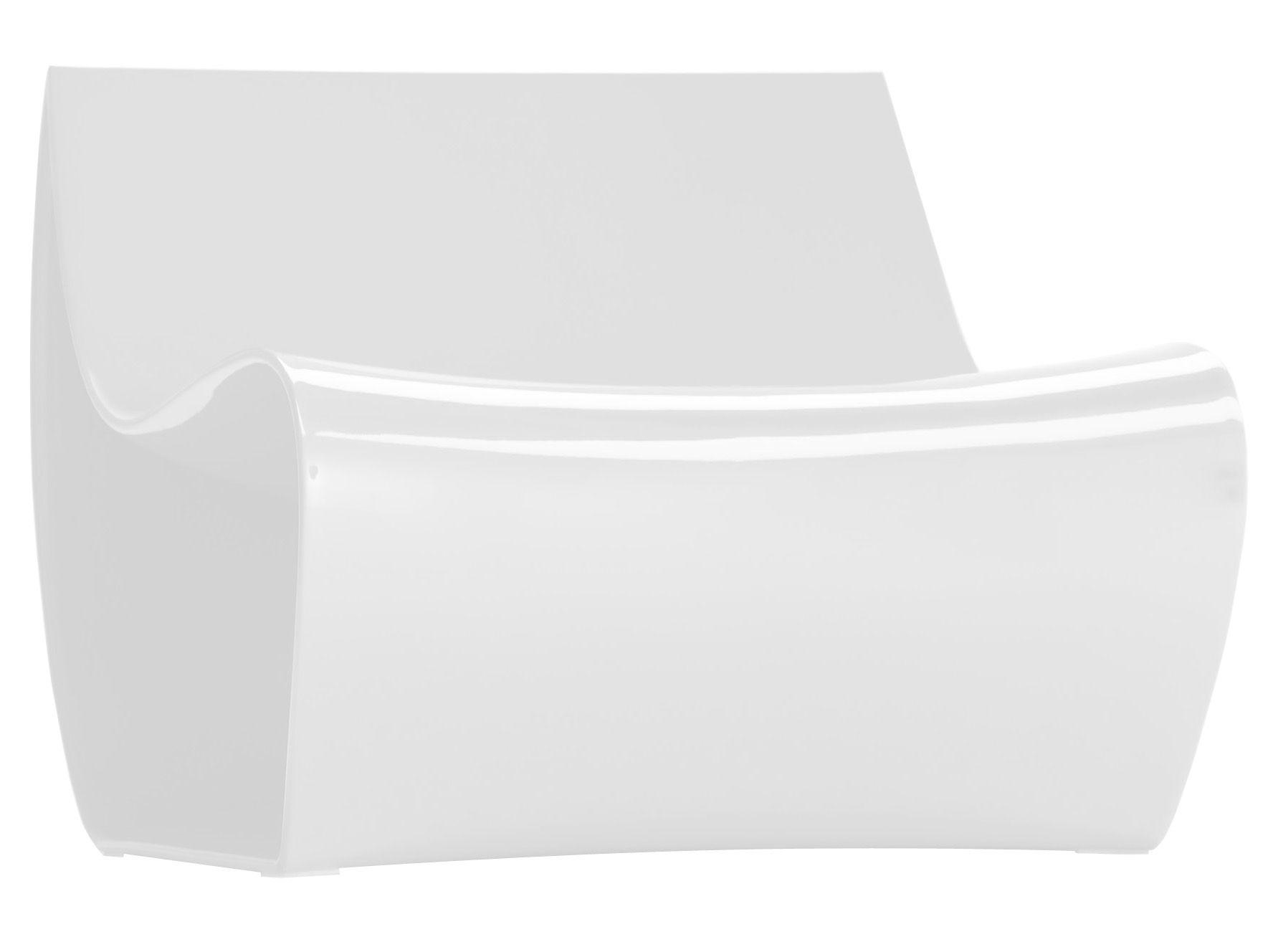Möbel - Lounge Sessel - Sign Lounge Sessel - MDF Italia - Weiß lackiert - lackiertes Polyamid