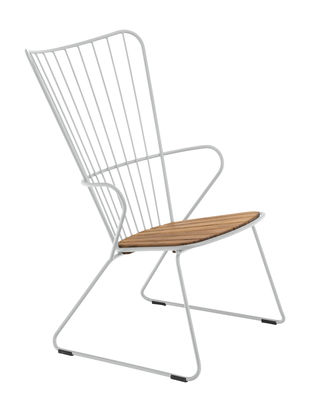 Furniture - Armchairs - Paon Low armchair - / Metal & bamboo by Houe - Taupe - Bamboo, Powder-coated steel