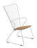 Paon Low armchair - / Metal & bamboo by Houe