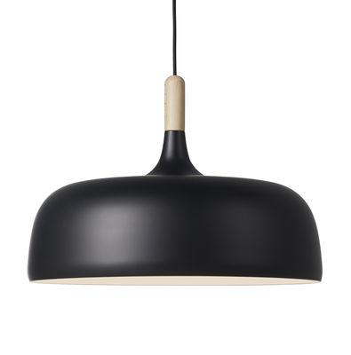 Acorn Pendelleuchte / Metall & Holz - Ø 48 cm - Northern - Schwarz,Holz natur