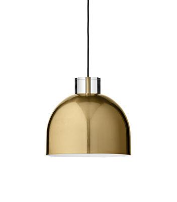 Luceo Ronde Pendelleuchte / klein Ø 28 cm - Metall & Glas - AYTM - Gold,Transparent