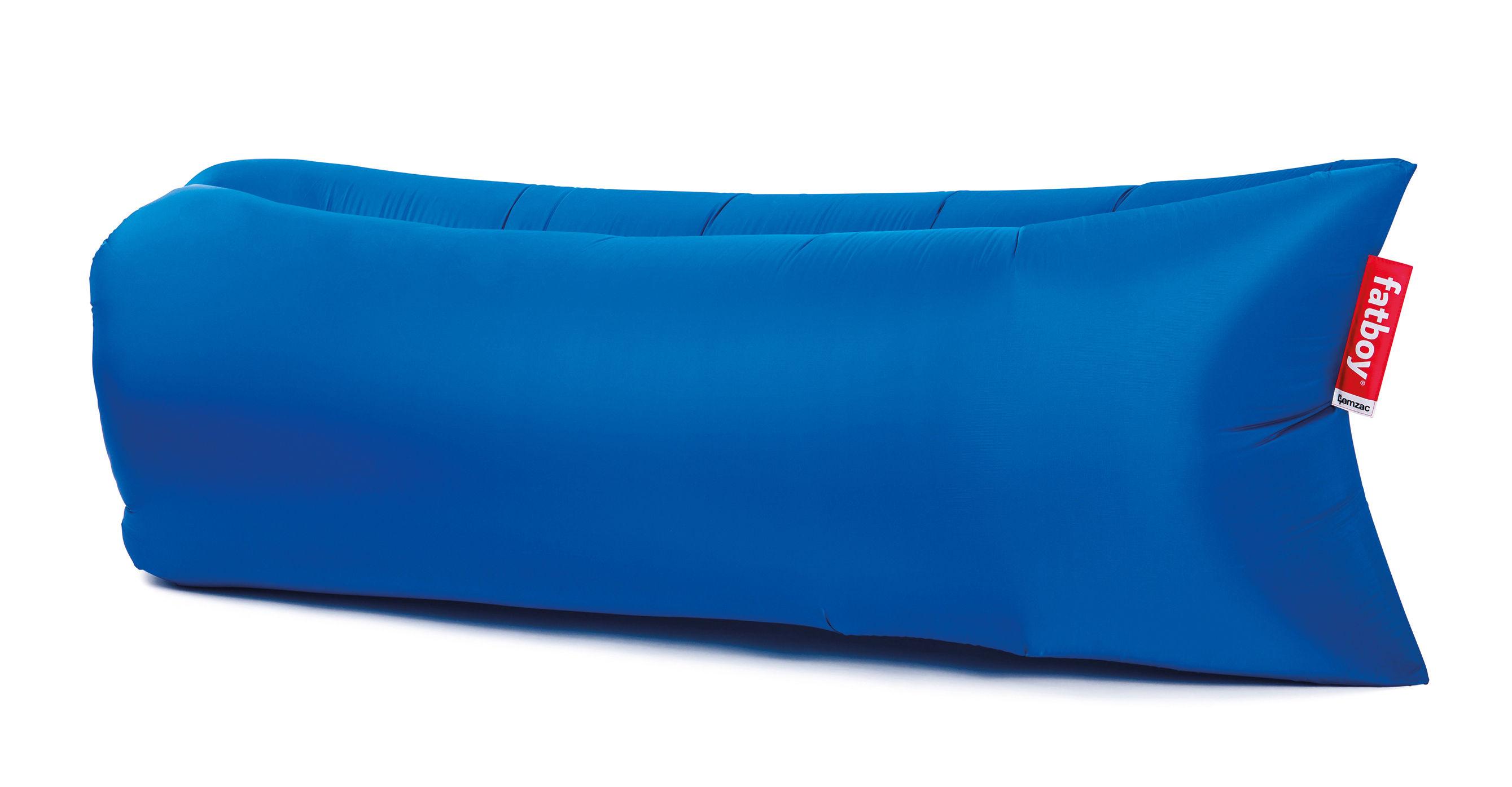 Outdoor - Chaises longues et hamacs - Pouf gonflable Lamzac the Original 2.0 / L 200 cm - Fatboy - Bleu pétrole - Nylon