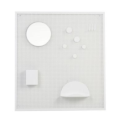 Interni - Per bambini - Organizer a parete / Con 5 accessori - OK Design per Sentou Edition - Bianco - Metallo perforato
