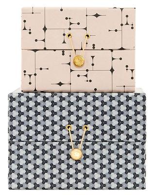 Dekoration - Schachteln und Boxen - The Artwork Small Schachtel / 2er-Set - House Doctor - Rosa & Grau - Hartpappe, Metall, Papierfaser