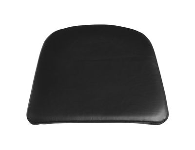 Decoration - Cushions & Poufs - Seat cushion - / For J42 armchair by Hay - Black leather - Leather