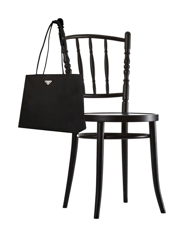Arredamento - Sedie  - Sedia Extension chair - con gancio per borse integrato di Moooi - Nero - Faggio massiccio dipinto