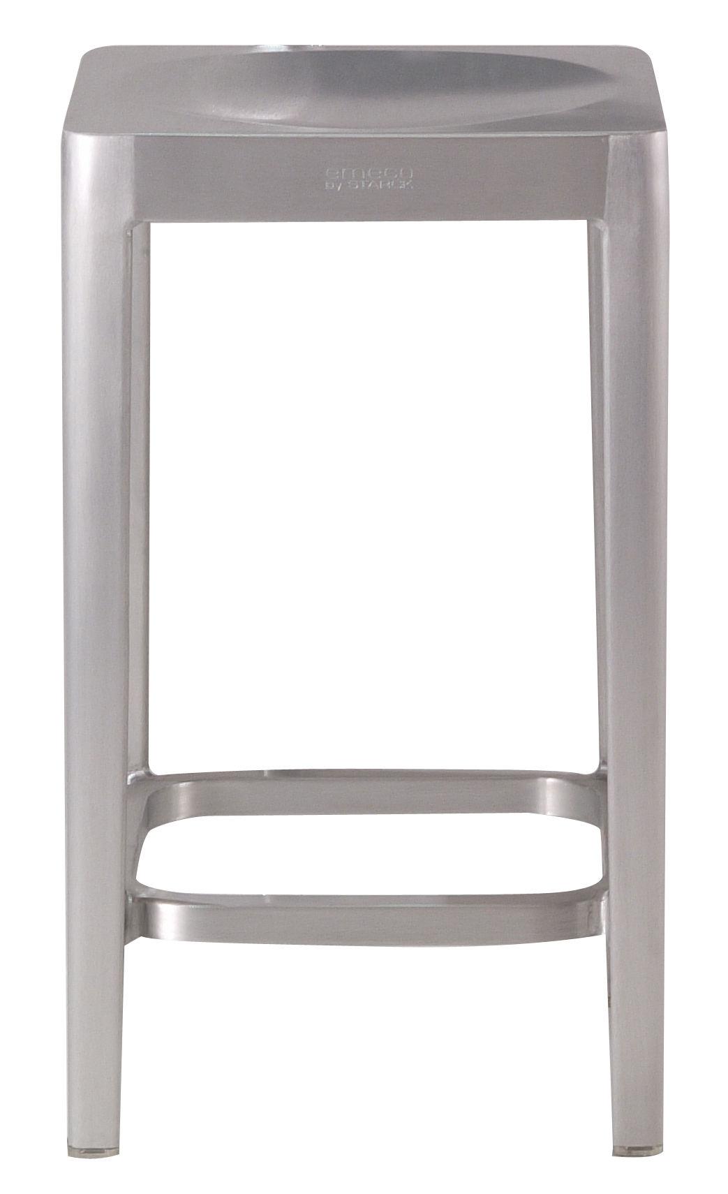 Arredamento - Sgabelli da bar  - Sgabello bar Outdoor - h 61 cm di Emeco - Alluminio opaco - Aluminium recyclé