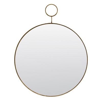 Interni - Specchi - Specchio murale The loop - / Ottone - Ø 32 cm di House Doctor - Ottone - Ottone, Specchio
