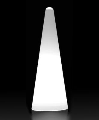 Cono Outdoor Stehleuchte H 150 cm - für den Außeneinsatz - Slide - Weiß