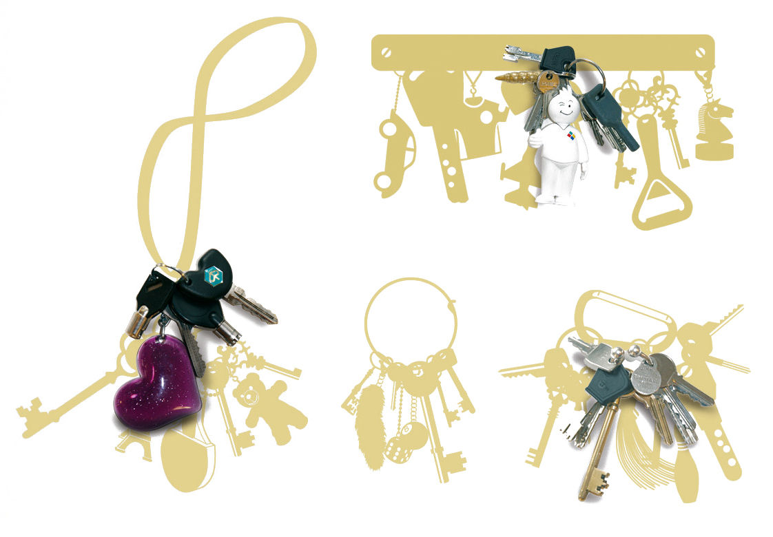 Interni - Sticker - Sticker Vynil+keys di Domestic - Oro - Vinile