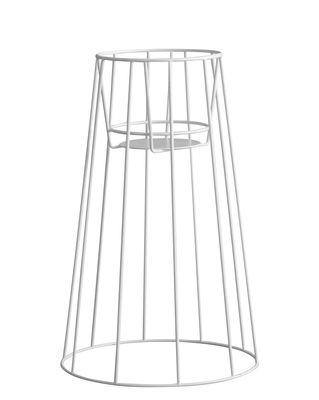 Support pour pot de fleurs Cibele Large / H 60 cm - OK Design pour Sentou Edition blanc en métal