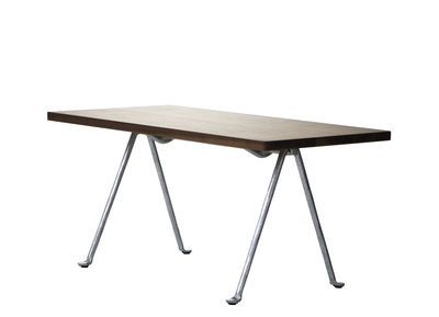 Table basse Officina / 120 x 45 cm - Noyer & fer forgé - Magis noyer,métal galvanisé en bois