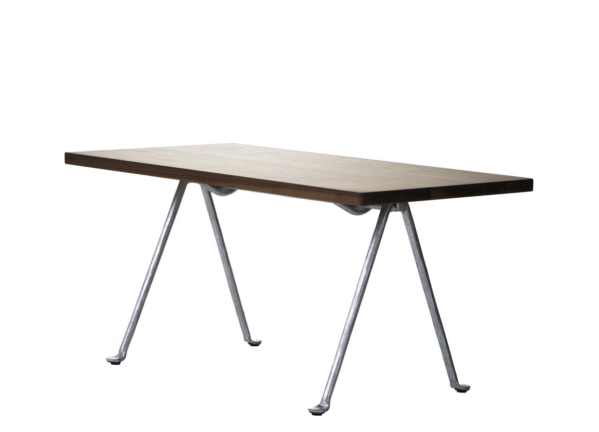 Mobilier - Tables basses - Table basse Officina / 120 x 45 cm - Noyer & fer forgé - Magis - Noyer / Pieds galvanisés - Fer forgé galvanisé, Noyer américain massif