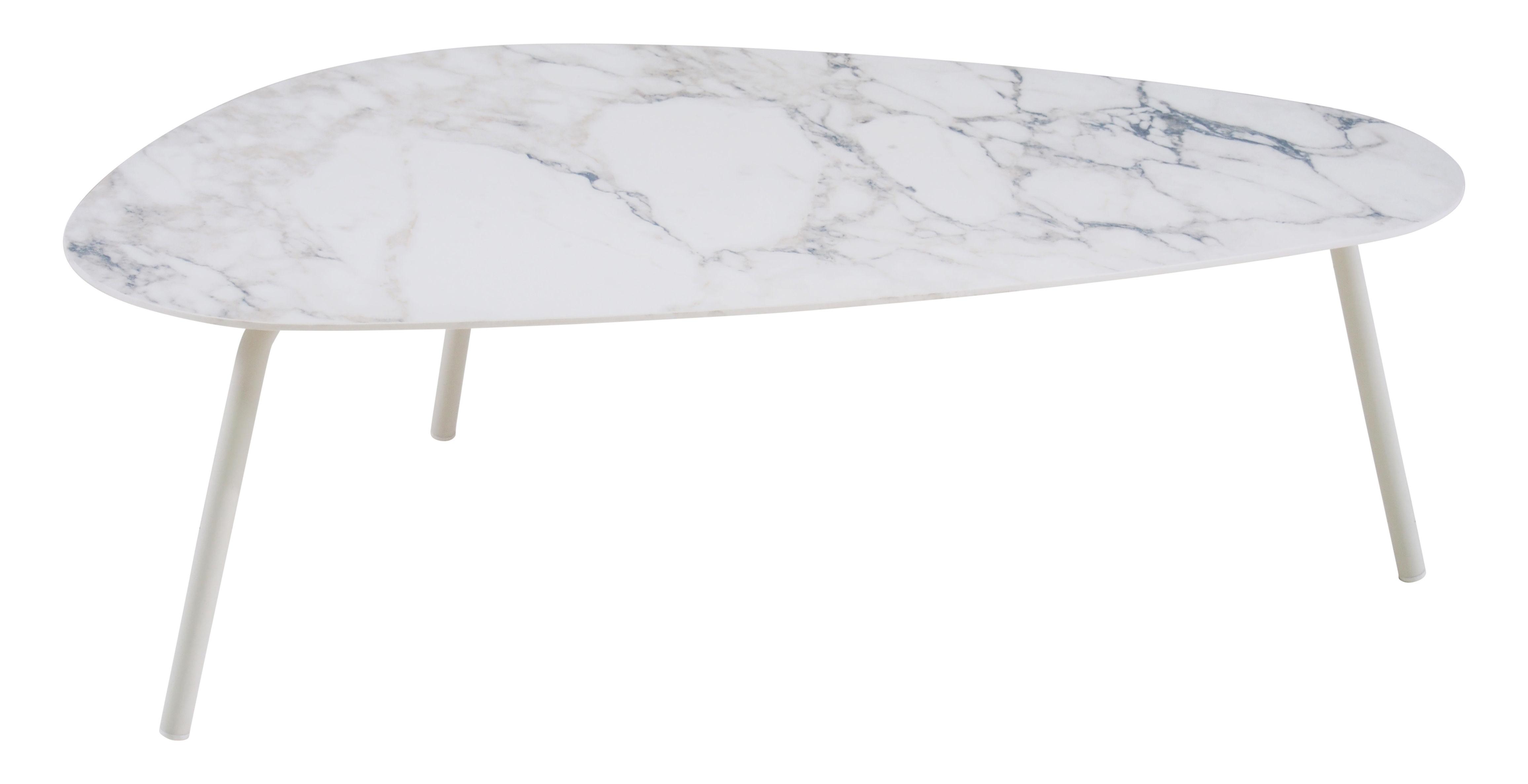 De Haute Qualite ... Mobilier   Tables Basses   Table Basse Terramare / Grès Effet Marbre    L 108 Cm