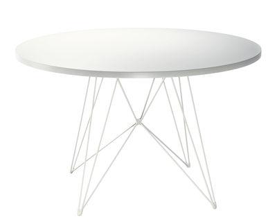 Table ronde XZ3 / Ø 120 cm - Magis blanc en métal