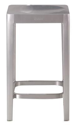 Tabouret de bar Outdoor / H 61 cm - Aluminium brossé - Emeco métal en métal