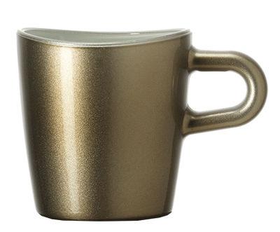 Tasse à espresso Loop / H 6 cm - Leonardo marron métallisé en verre