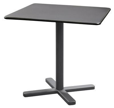 Outdoor - Tavoli  - Tavolo pieghevole Darwin - / 80 x 80 cm di Emu - Ferro antico - Acciaio verniciato