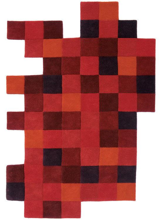 Möbel - Teppiche - Do-Lo-Rez Teppich 184 x 276 cm - Nanimarquina - Rottöne - Wolle