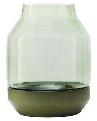 Déco - Vases - Vase Elevated - Muuto - Vert - Frêne peint, Verre soufflé