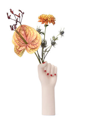Decoration - Vases - Girl Power Vase - / Small - H 27 cm by Doiy - White / H 27 cm - Ceramic