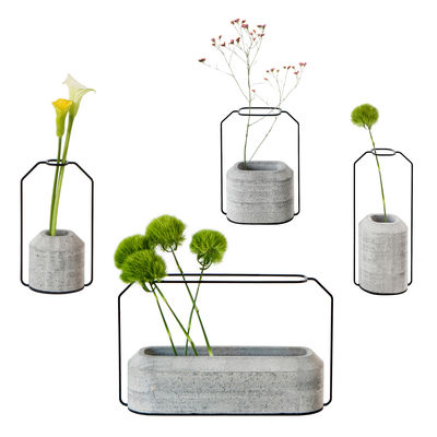 Weight Vase Set Aus 4 Vasen Betongrau By Specimen Editions Made In Design