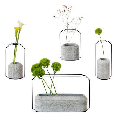 Déco - Vases - Vase Weight / Set de 4 vases - Spécimen Editions - Gris béton - Acier, Béton lisse