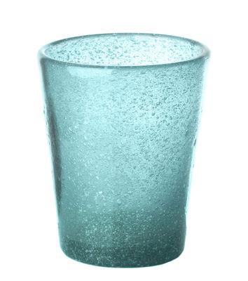 Arts de la table - Verres  - Verre He - Pols Potten - Bleu ciel - Verre bullé teinté dans la masse