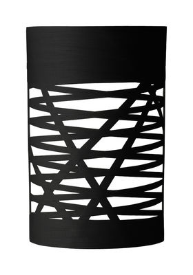 Lighting - Wall Lights - Tress Mini Wall light - H 40 cm by Foscarini - Black - Composite material, Fibreglass