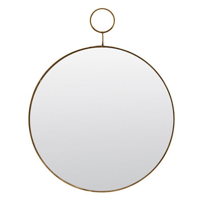 Decoration - Mirrors - The loop Wall mirror - / Brass - Ø 32 cm by House Doctor - Brass - Brass, Mirror