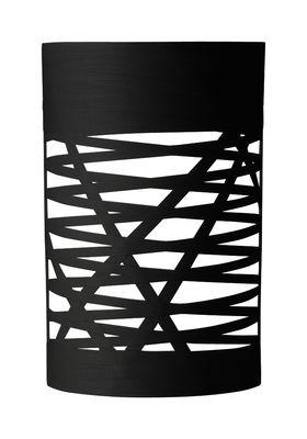 Leuchten - Wandleuchten - Tress Mini Wandleuchte H 40 cm - Foscarini - Schwarz - Glasfaser, Verbund-Werkstoffe