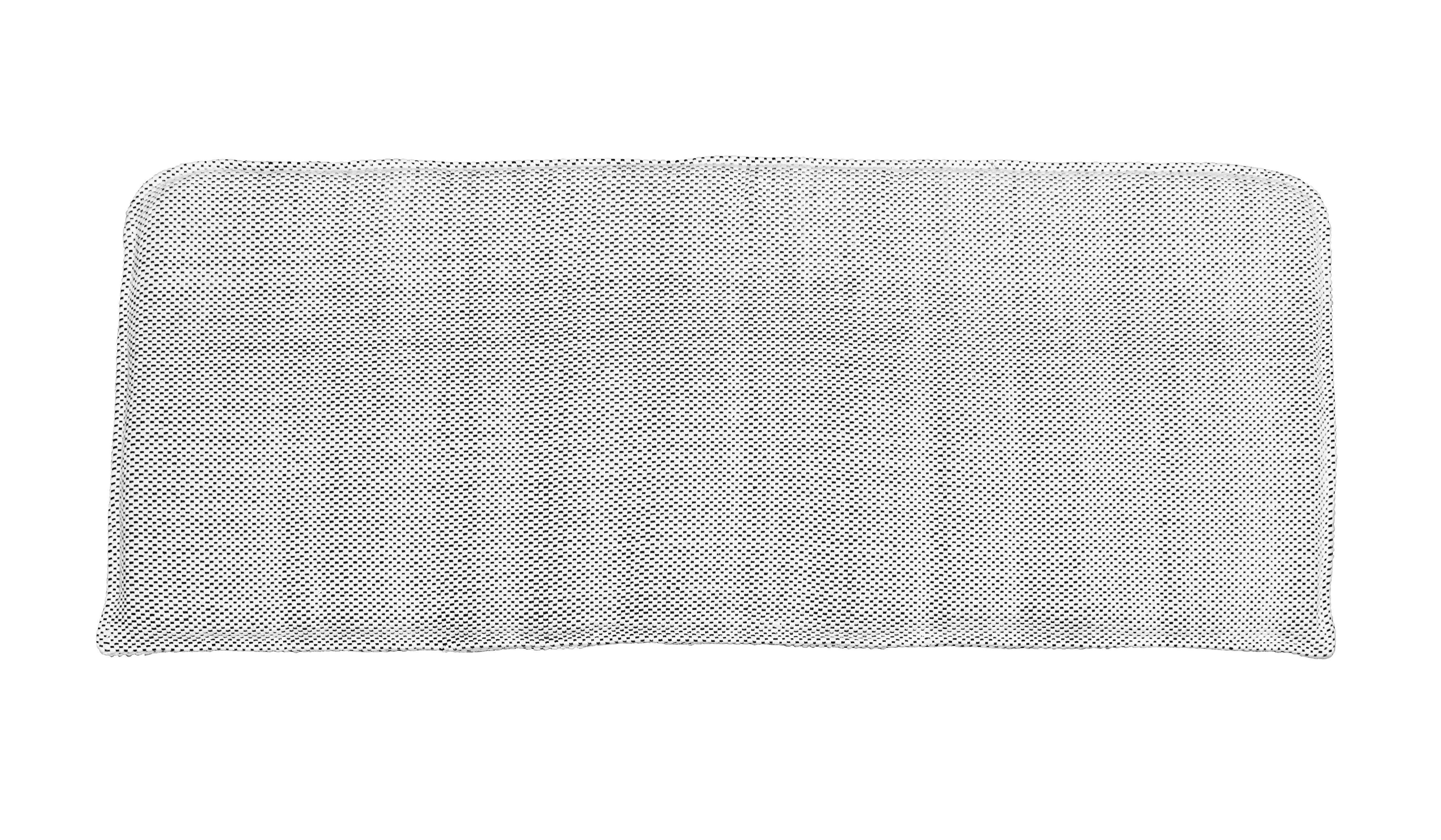 Mobilier - Canapés - Accessoire canapé / Coussin assise pour banquette Cuun - House Doctor - Coussin / Blanc & noir - Coton, Mousse polyuréthane, Viscose
