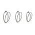 Appendiabiti Senzatempo - / Fissaggio a parete - 3 anelli / L 77 cm di Opinion Ciatti