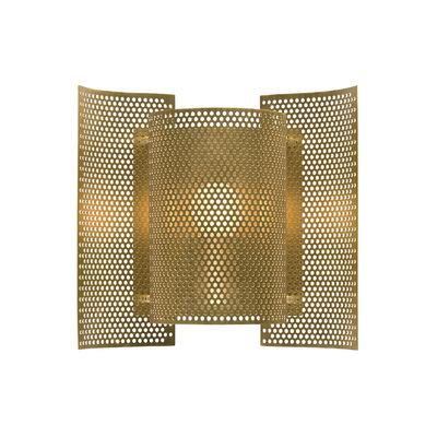 Illuminazione - Lampade da parete - Applique con presa Butterfly - / Metallo perforato - Riedizione 1954 di Northern  - Ottone spazzolato - Laiton perforé