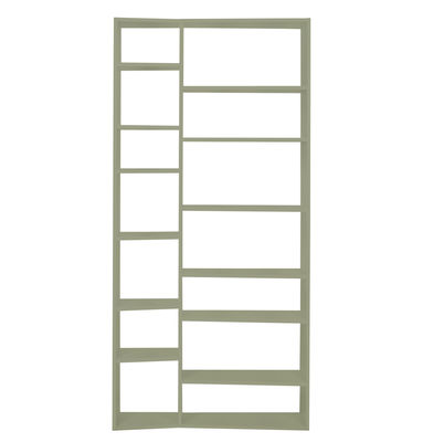 Furniture - Bookcases & Bookshelves - New York 001 Bookcase - L 108 x H 224 cm by POP UP HOME - Grey - Painted chipboard