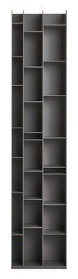 Furniture - Bookcases & Bookshelves - Random 3C Bookcase - L 46 x H 217 cm by MDF Italia - Medium grey - Wood fibre